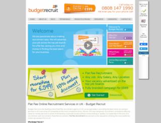 budgetrecruit.co.uk screenshot