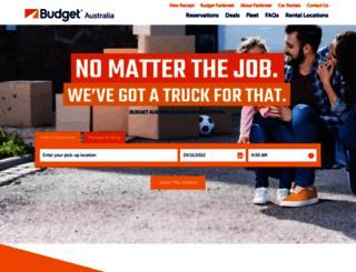 budgettrucks.com.au screenshot