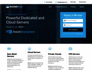 budgetvm.com screenshot