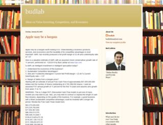 budlab.blogspot.de screenshot