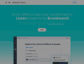 budweisermusic.unionmetrics.com screenshot
