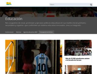 bue.edu.ar screenshot