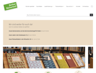 buechertisch.org screenshot