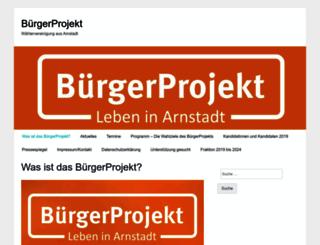 buergerprojekt-arnstadt.de screenshot