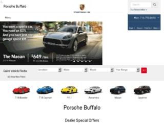 buffalo.porschedealer.com screenshot
