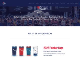 buffalomarathon.com screenshot