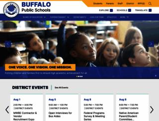 buffaloschools.org screenshot