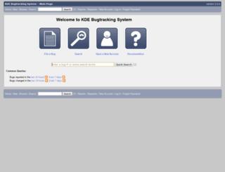 bugs.kde.org screenshot