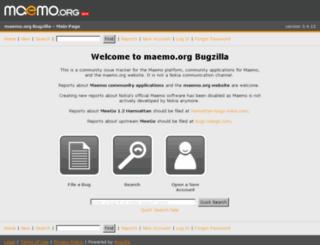 bugs.maemo.org screenshot