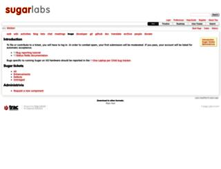 bugs.sugarlabs.org screenshot
