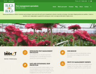 bugsforbugs.com.au screenshot