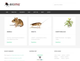 bugspray.net screenshot