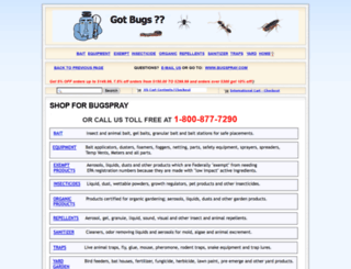 bugspraycart.com screenshot