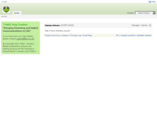 bugtracker.tiarccms.co.uk screenshot