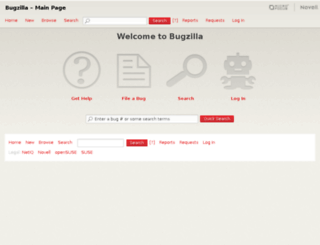 bugzilla.novell.com screenshot