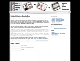 buildawebsite-stepbystep.com screenshot