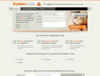 builderguide.co.uk screenshot