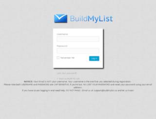 buildmylistmembers.com screenshot