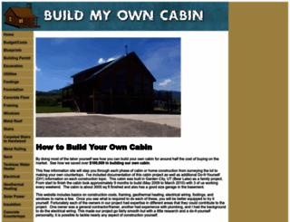 buildmyowncabin.com screenshot
