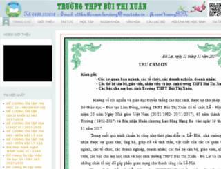 buithixuandalat.edu.vn screenshot
