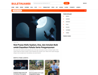 buletinjambi.com screenshot