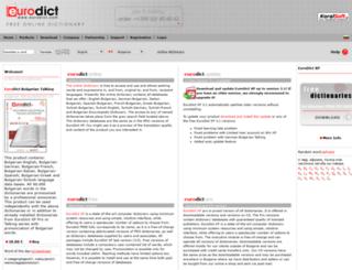 bulgariandictionary.com screenshot