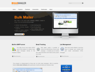 bulkmailerpro.com screenshot