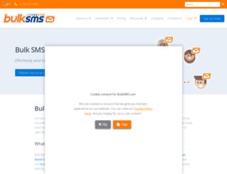 bulksms.co.za screenshot