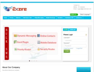 bulksms.exzire.com screenshot