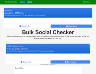 bulksocialchecker.com screenshot