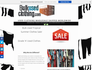 bulkusedclothing.com screenshot