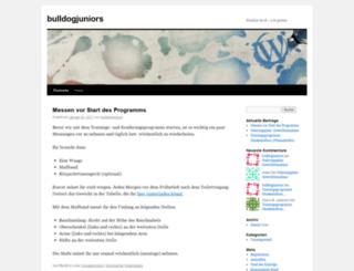 bulldogjuniors.wordpress.com screenshot