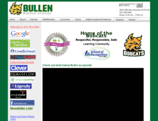 bullen.kusd.edu screenshot