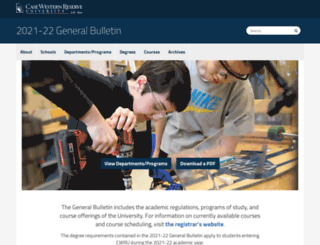 bulletin.case.edu screenshot