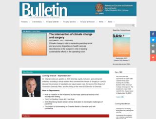 bulletin.facs.org screenshot