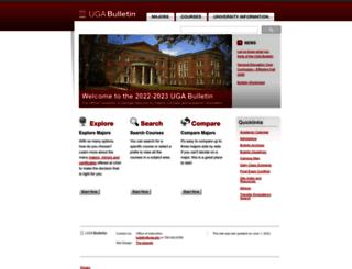 bulletin.uga.edu screenshot
