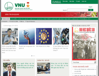 bulletin.vnu.edu.vn screenshot