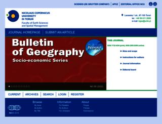 bulletinofgeography.umk.pl screenshot
