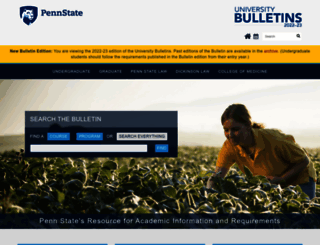 bulletins.psu.edu screenshot