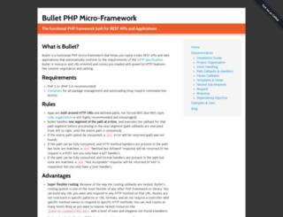 bulletphp.com screenshot