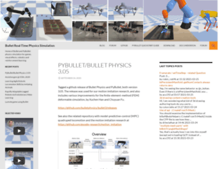 bulletphysics.org screenshot