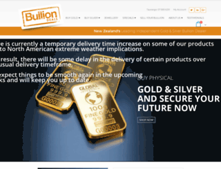 bulliondeals.co.nz screenshot