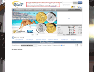 bulliondirect.com screenshot