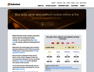 bullionvault.com screenshot