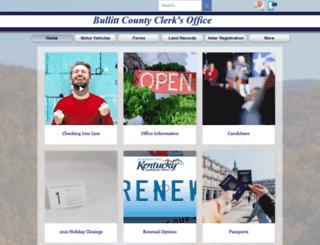 bullittcountyclerk.com screenshot