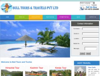 bulltoursandtravels.com screenshot