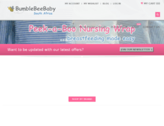 bumblebeebaby.co.za screenshot
