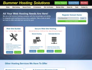 bummerhosting.com screenshot