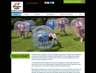 bumperballsla.com screenshot