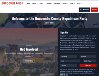 buncombegop.org screenshot